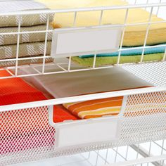 The Container Store  White elfa Mesh Start-A-Stack  organizing the art room
