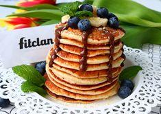 Späť ku klasike #3 - Vláčne fit lievance (Recept) - Fitclan Almond Pancakes, Sweet Tooth, Clean Eating, Fitness, Cooking, Breakfast, Desserts, Food, Yum Yum