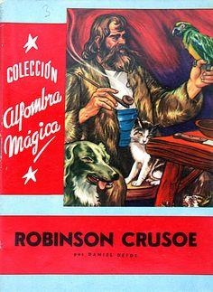 Crusoe,Robinson (Personaje de ficción). Robinson Crusoe / por Daniel Defoe (1958)