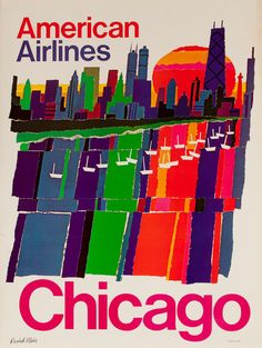 American Airlines Vintage Travel Poster by David Klein American Airlines Vintage T Retro Airline, Airline Travel, Vintage Airline, Air Travel, Retro Poster, Poster S, Vintage Travel Posters, Vintage Ads, Poster Design Inspiration