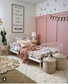 Big Girl Bedrooms, Little Girl Rooms, Toddler Girl Rooms, Pink Girl Rooms, Kids Rooms, Girls Bedroom Pink, Girl Kids Room, Cool Girl Rooms, Hippie Bedrooms