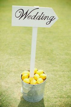 rustic yellow lemon wedding sign / http://www.deerpearlflowers.com/fruit-wedding-ideas/4/