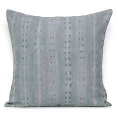 Shibori Cityscape Day Cushion - Ocean