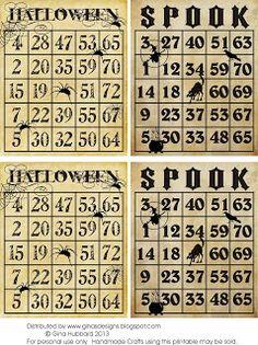 Freebie Friday Vintage Halloween Bingo Cards