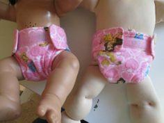 "Pink Princess's Nana Nappy Cloth Doll Diapers Fit 14-16"" Doll"