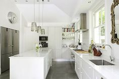 Best kitchen combo of modern and traditional with oh so practical floors!