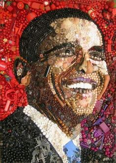 Stunning Portraits Made of Hundreds of Found Objects by Jane Perkins – DesignSwan.com