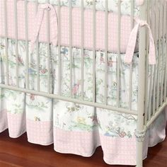 Pink Over the Moon Toile 2-Piece Crib Bedding Set | Carousel Designs