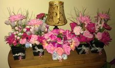 Center pieces for girl baby shower!