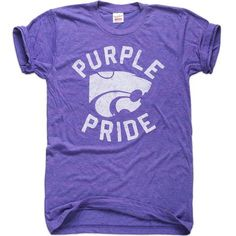 "Show off your ""Purple Pride"" for the Wildcats in style with this Kansas State T-Shirt. Perfect for victory laps at the bar or the pre game tailgate traditions! Kansas State Football, Kansas State University, Fan Shirts, Pride Shirts, Manhattan Kansas, Spirit Shirts, Purple T Shirts, Spirit Wear, Tee Shirt Designs"