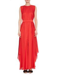 Pleated silk-charmeuse gown | Maison Rabih Kayrouz | MATCHESFASHION.COM UK