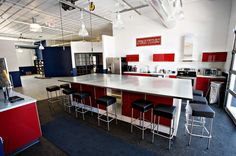 lunch room or conference room? Cool office interior either way.
