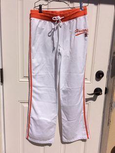 Official Hooters restaurant Basketball Type Sweatpants Medium Halloween Costume #Hooters #TrackSweatPants