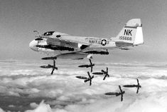 dropping load of Hi Drag bombs over Vietnam. Us Navy Aircraft, Us Military Aircraft, Military Jets, Fighter Aircraft, Fighter Jets, War Jet, Go Navy, Aircraft Carrier, War Machine