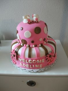Baby Girl Shower cake....but in purple and green