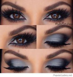 Grey and black eye makeup inspiration