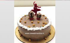 Homemade Eggless 3D Custom Kathak Theme Fresh Cream Birthday Cake For Dancer At Balewadi