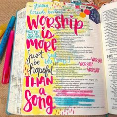 "Started @movethemountains ""Worship is more than a song"" Bible journaling study!! Today we listened to Jimmy Needham's song ""Clear the Stage"" and took some time to process thru Psalm 145. #worshipismorethanasong #theinspirebible #illustratedfaith #journalingbible #biblejournaling"