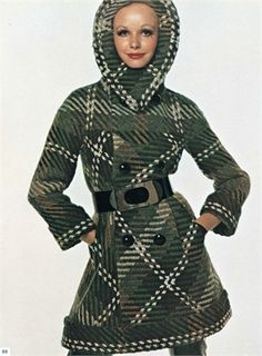 Coat by Pierre Cardin  Photo by David Bailey 1968  Vogue Italia, November 1968