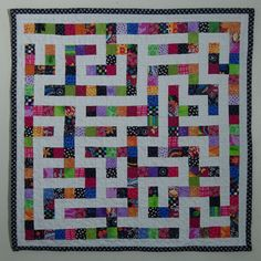 pattern for a maze quilt | ... it would be cool to make a quilt that was a maze. And I was right