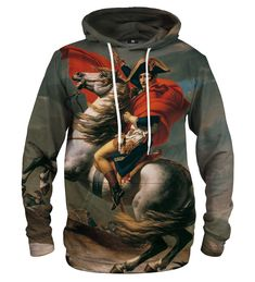 Napoleon Crossing the Alps hoodie Material: Cotton, Polyester Cut: Unisex Origin: Made in EU Availability: Made to order Platinum Grey, Napoleon, Alps, Persona, Motorcycle Jacket, Unisex, Pullover, Hoodies, Cotton