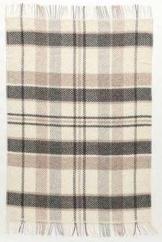Álafoss Wool Blanket - 2005. Made of 100% pure Icelandic Wool. Designed by Guðrún Gunnarsdóttir.
