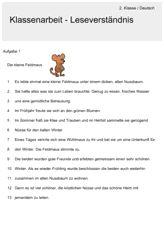 Lectură comprehensiune - clasa a 2-germană