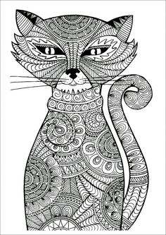 Kitten Adult Cat Coloring Pages Printable And Book To Print For Free Find More Online Kids Adults Of