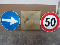 Vintage ' Pirelli ' plate  + 2 signs