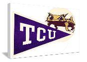 Vintage TCU canvas art by 47 STRAIGHT.™ http://www.texasfootballgifts.com/