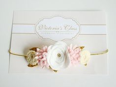 Baby Felt Flower Crown, Newborn Flower Crown, Infant Floral Crown, Newborn…