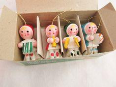 Vintage Musical Kids Ornaments New Old Stock Original Box