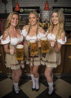 Oktoberfest, is one of the biggest beer festivals in the world. This fun fest is being held in Munich, Germany and lasts 16 days, from around mid September, up to beginning of October. This festival is a very important part of the Bavarian culture and has German Women, German Girls, Octoberfest Girls, Beer Maid, Beer Girl, German Beer, Beer Festival, Beer Lovers, Festivals