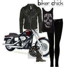 Biker Chick, minus the black skinnies Punk Fashion, Fashion Outfits, Womens Fashion, Biker Fashion, Motorcycle Fashion, Motorcycle Gear, Biker Chick Outfit, Biker Outfits, Biker Wear