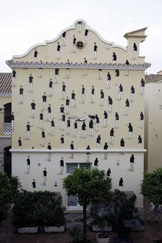"Street artist Escif created this mural titled ""Entropy,"" in Morocco on the Melilla Art School building."