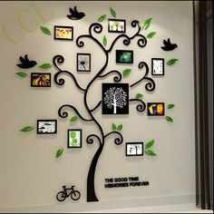 Custom Family Tree Template Custom Family Tree Template Medium To family tree wall art - Wall Art Family Tree Wall Sticker, Family Wall Decor, Tree Wall Art, Family Tree Photo, Photo Tree, Family Family, Hanging Picture Frames, Frames On Wall, 3d Wall Decals