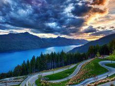 Dunedin New Zealand Sunset HD Wallpaper on MobDecor http://www.mobdecor.com/b2b/wallpaper/220151-dunedin-new-zealand-sunset