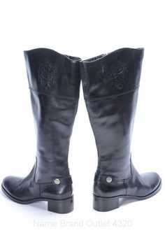 ETIENNE AIGNER. Knee-high. Boots. Chunky. Black.