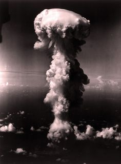 Operation Crossroads, Able Test, July Cloud rising after the detonation. Nagasaki, Hiroshima, Operation Crossroads, Nuclear Reaction, Mushroom Cloud, Armed Conflict, Explosions, July 1, Mushrooms