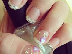 pretty pearl french nails
