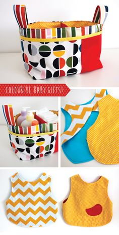 Colourful baby gifts to sew