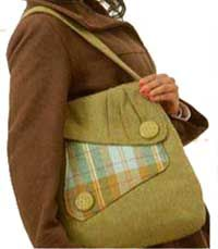 Country Courier Bag Pattern in PDF - the perfect new bag pattern for Fall (yummy wool fabric)!