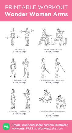 Wonder Woman Arms:my custom printable workout by @WorkoutLabs #workoutlabs #customworkout