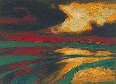 Emil Nolde - Autumn Evening (1924)