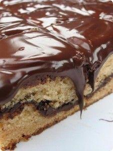 Chocolate Cinnamon Bars with Fudge Frosting ~ Dozen Flours Chocolate Mud Cake, Melting Chocolate, Sweet Recipes, Cake Recipes, Dessert Recipes, Delicous Desserts, Yummy Treats, Yummy Food, Tasty