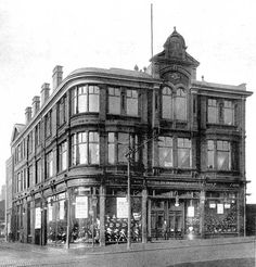 Central Tailoring Department, corner of Bridge Street and St George's Road  Burnt Down 1902