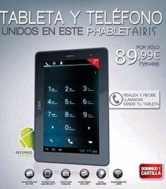 Hazte con una Phablet Airis con AS ¡Tablet y Teléfono en un único dispositivo! Sigue el enlace para saber más:  http://ofertasdeprensa.offertazo.com/phablet-airis-as-tablet-telefono/