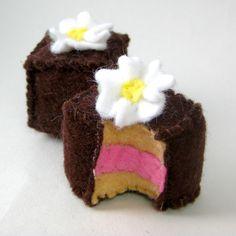 Petit Fours Chocolate Cake Bite