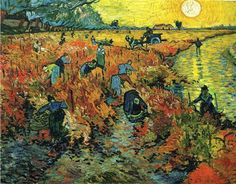 Vincent van Gogh - Red Vineyards of Arles. Pushkin Museum of Fine Art, Moscow. In his lifetime Van Gogh sold only one painting, and this is the one ! Art Van, Van Gogh Art, Van Gogh Pinturas, Paul Gauguin, Desenhos Van Gogh, Oil On Canvas, Canvas Art, Canvas Size, Large Canvas