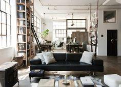 regolit floor lamp, arc, white, black | floor lamp - Wohnzimmer Industrial Style